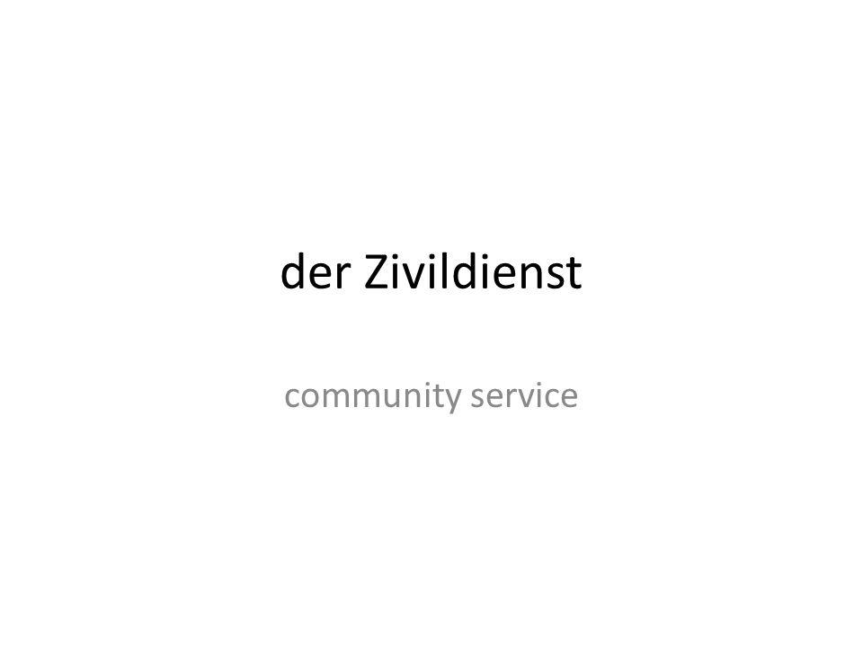 der Zivildienst community service