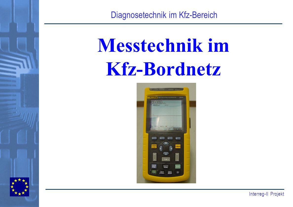 Diagnosetechnik im Kfz-Bereich Interreg-II Projekt Messtechnik im Kfz-Bordnetz