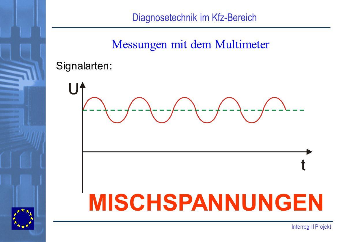 Diagnosetechnik im Kfz-Bereich Interreg-II Projekt Messungen mit dem Multimeter Signalarten: MISCHSPANNUNGEN