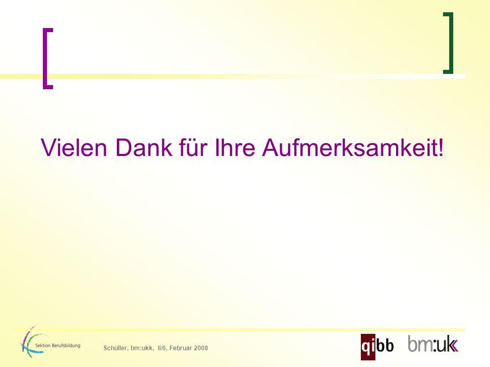 Schüller, bm:ukk, II/6, Februar 2008 Vielen Dank für Ihre Aufmerksamkeit!