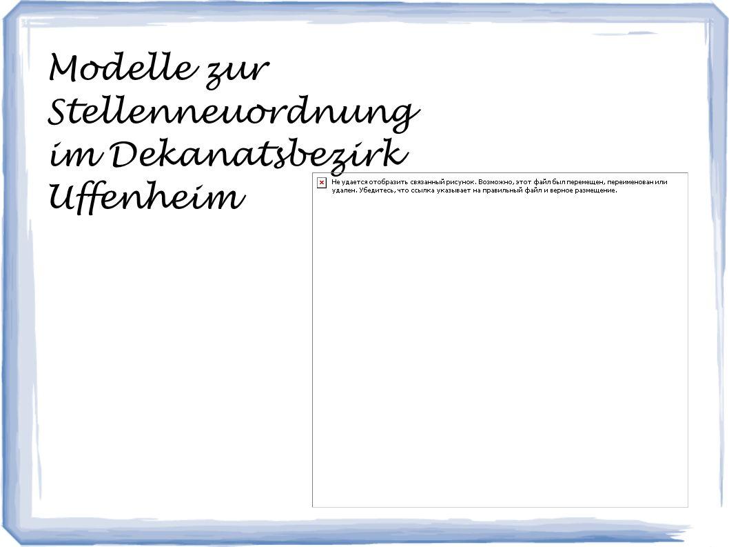 Modelle zur Stellenneuordnung im Dekanatsbezirk Uffenheim