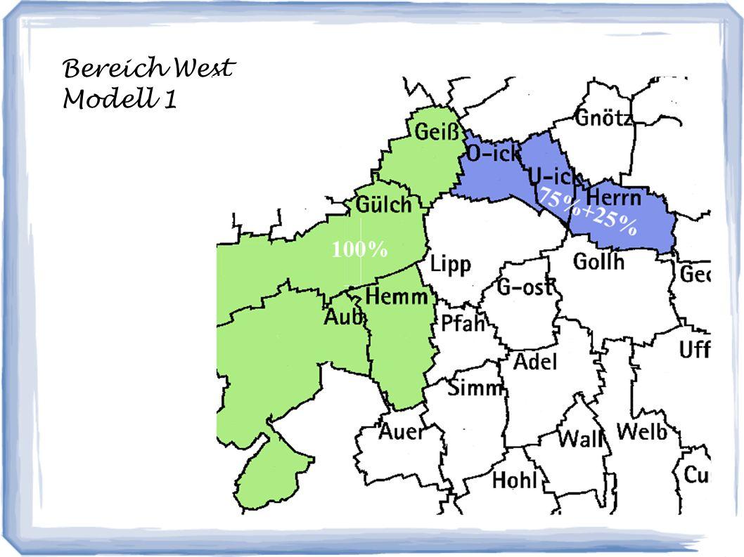 Bereich West Modell 1