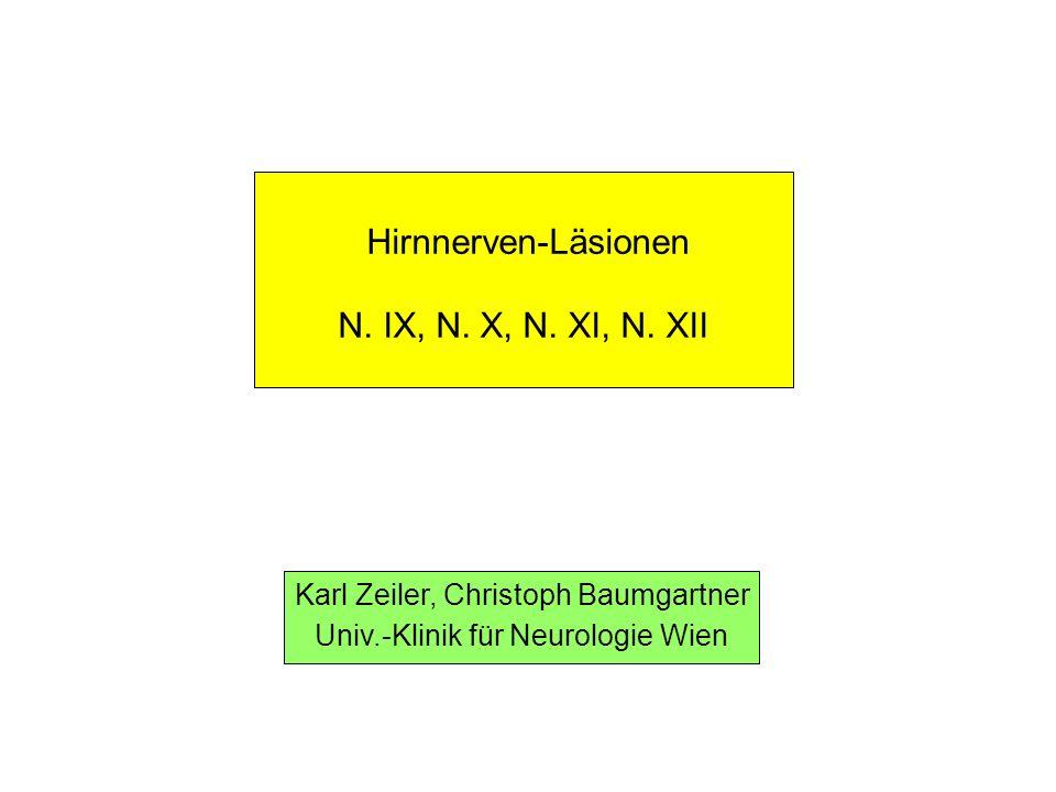 Läsionen des N.accessorius Klinische Symptomatik der peripheren N.