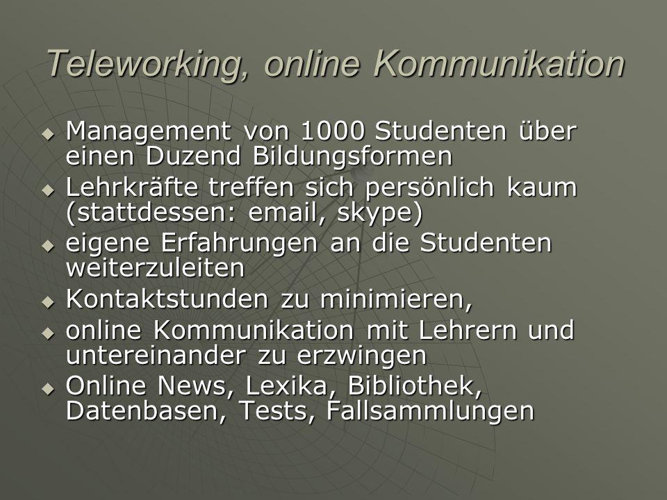 Teleworking, online Kommunikation Management von 1000 Studenten über einen Duzend Bildungsformen Management von 1000 Studenten über einen Duzend Bildu