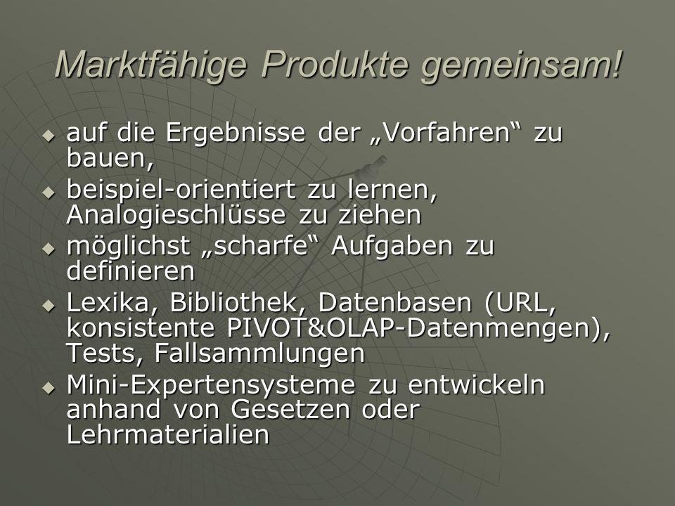 Marktfähige Produkte gemeinsam! auf die Ergebnisse der Vorfahren zu bauen, auf die Ergebnisse der Vorfahren zu bauen, beispiel-orientiert zu lernen, A