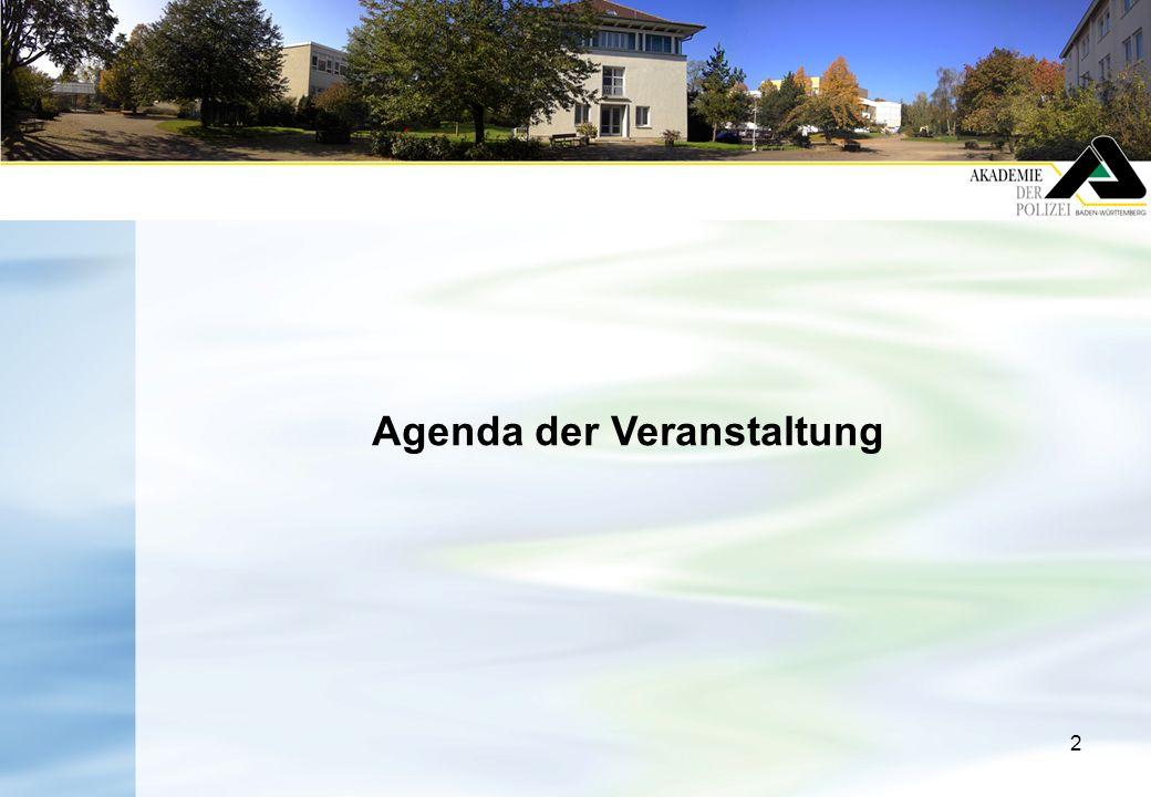 2 Agenda der Veranstaltung