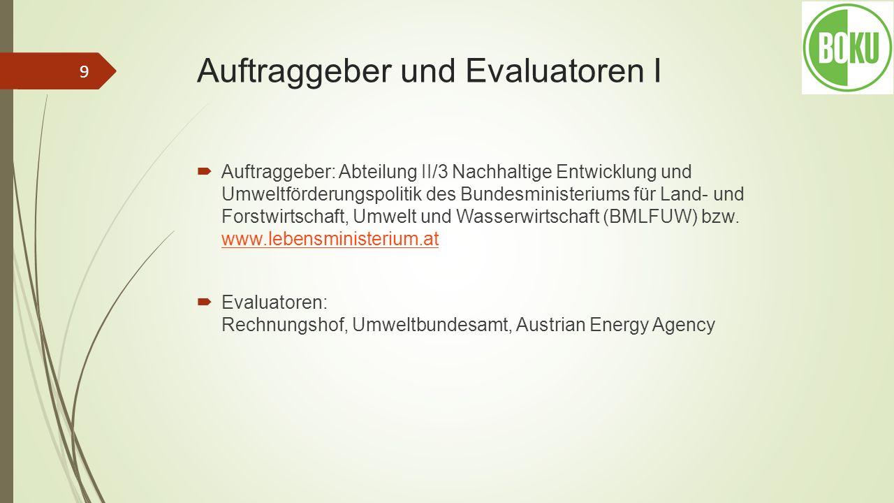 Motivation I: Warum und wozu wird evaluiert.Evaluierungen durch das Umweltbundesamt bzw.