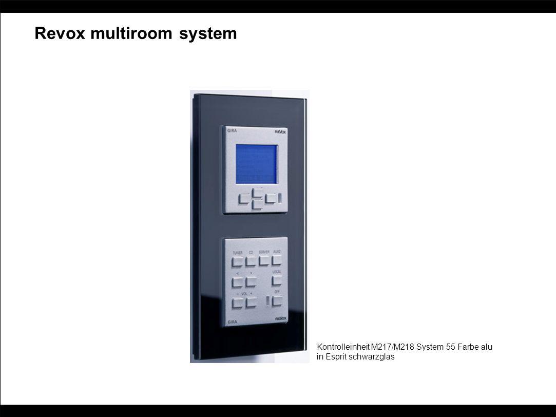 Revox multiroom system Kontrolleinheit M217/M218 System 55 Farbe alu in Esprit schwarzglas