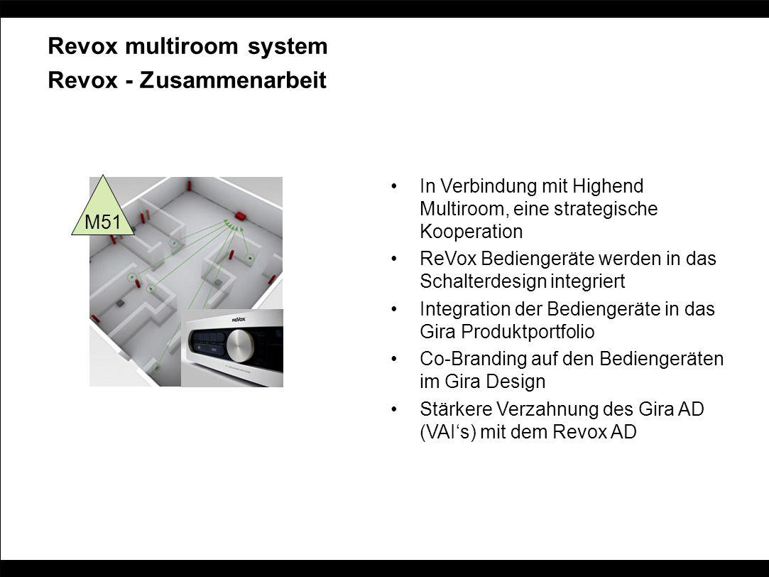 Revox - Zusammenarbeit In Verbindung mit Highend Multiroom, eine strategische Kooperation ReVox Bediengeräte werden in das Schalterdesign integriert I