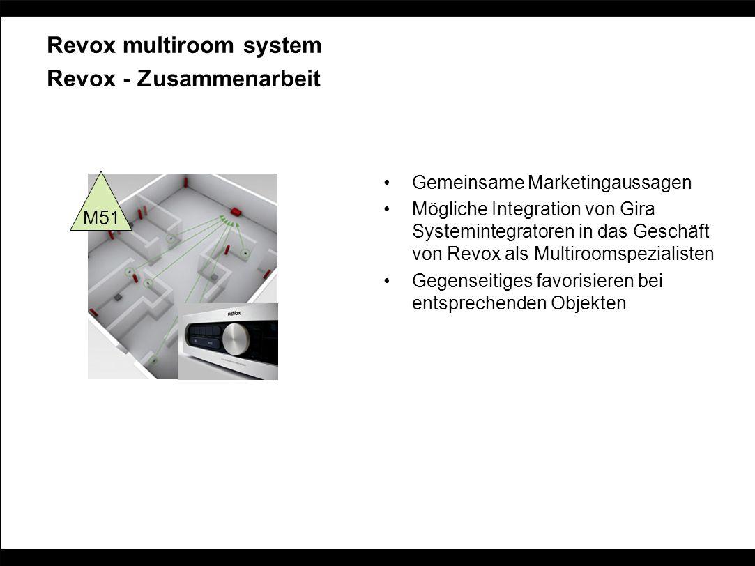Revox multiroom system Revox - Zusammenarbeit Gemeinsame Marketingaussagen Mögliche Integration von Gira Systemintegratoren in das Geschäft von Revox