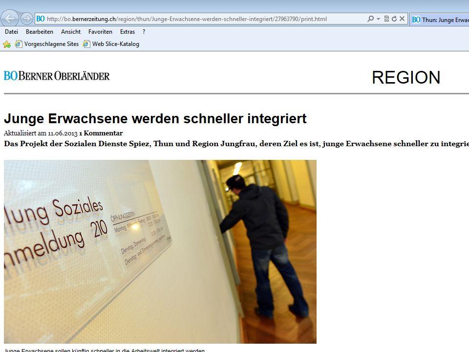 Junge Erwachsene in der Sozialhilfe Berner Oberland Soziale Dienste Spiez1