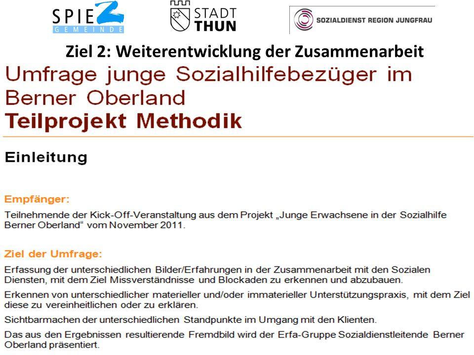 Ziel 2: Weiterentwicklung der Zusammenarbeit 15Soziale Dienste Spiez