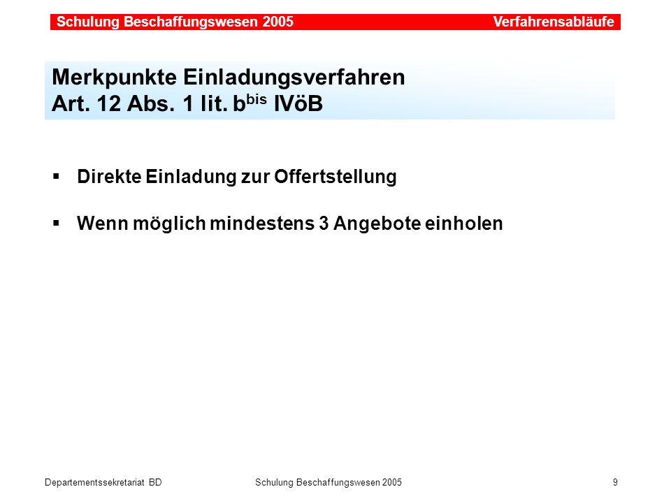Departementssekretariat BDSchulung Beschaffungswesen 2005 20 Simap.ch