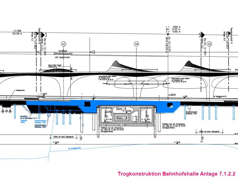 Trogkonstruktion Bahnhofshalle Anlage 7.1.2.2