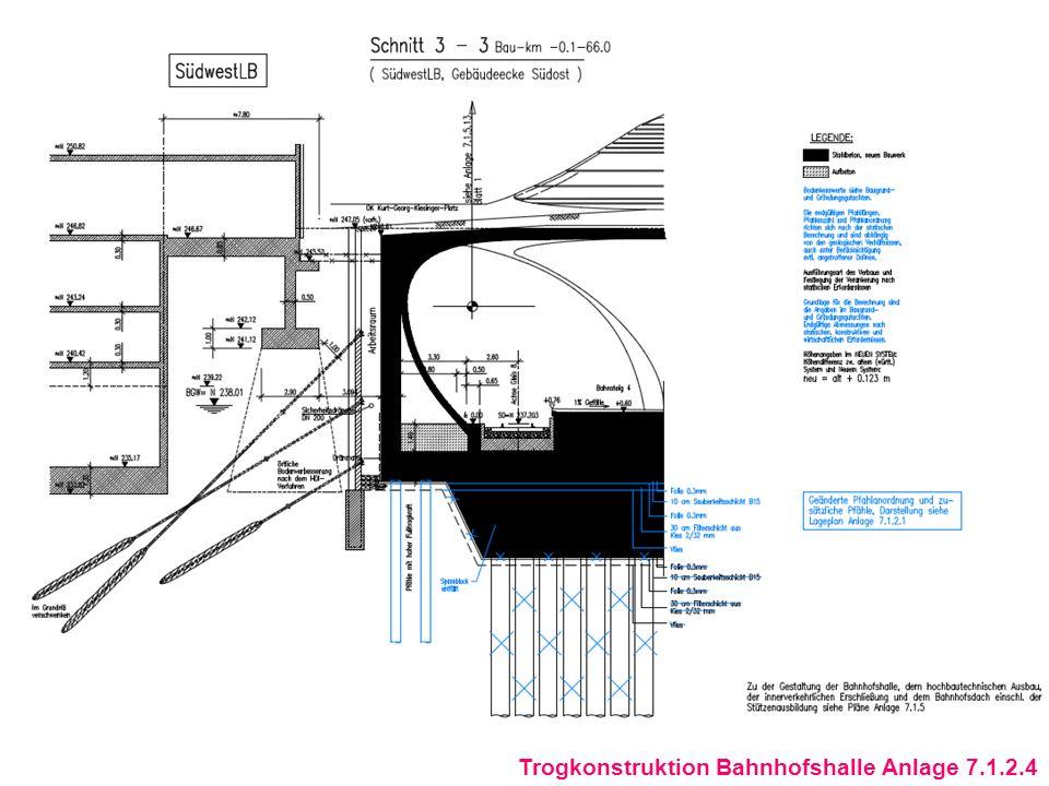 Auswirkungen der Planänderung auf die Immissionssituation nach Darstellung der DB Projektbau GmbH: In der unmittelbaren Umgebung der geänderten Gründungsmaßnahmen und Bauwerke sind keine schutzbedürftigen Einrichtungen vorhanden.