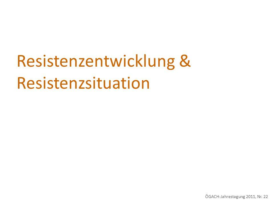 Resistenzentwicklung & Resistenzsituation ÖGACH-Jahrestagung 2011, Nr. 22