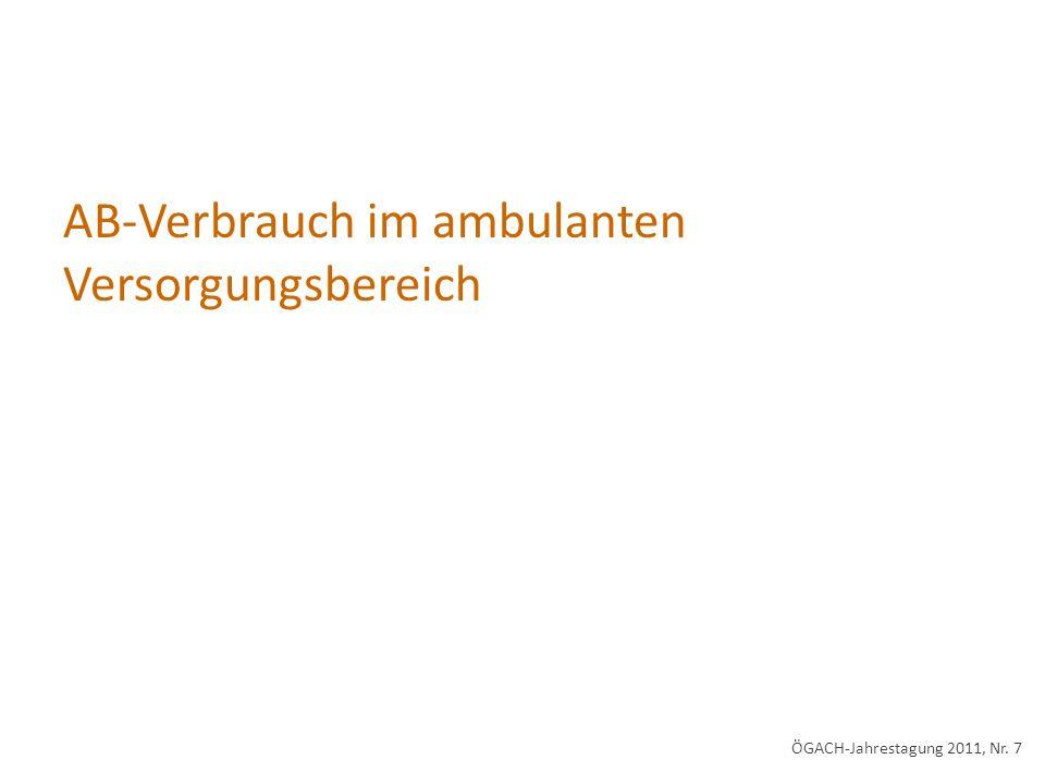 AB-Verbrauch im ambulanten Versorgungsbereich ÖGACH-Jahrestagung 2011, Nr. 7