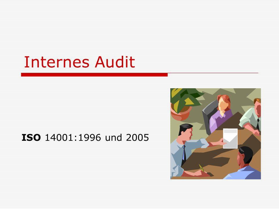 Internes Audit ISO 14001:1996 und 2005