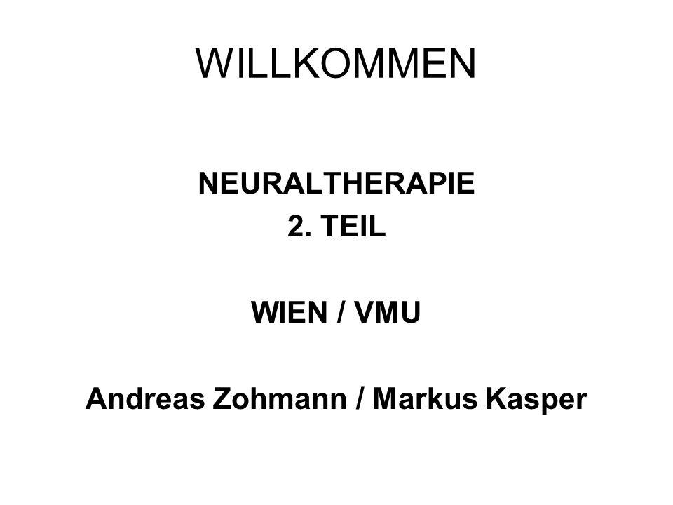 WILLKOMMEN NEURALTHERAPIE 2. TEIL WIEN / VMU Andreas Zohmann / Markus Kasper