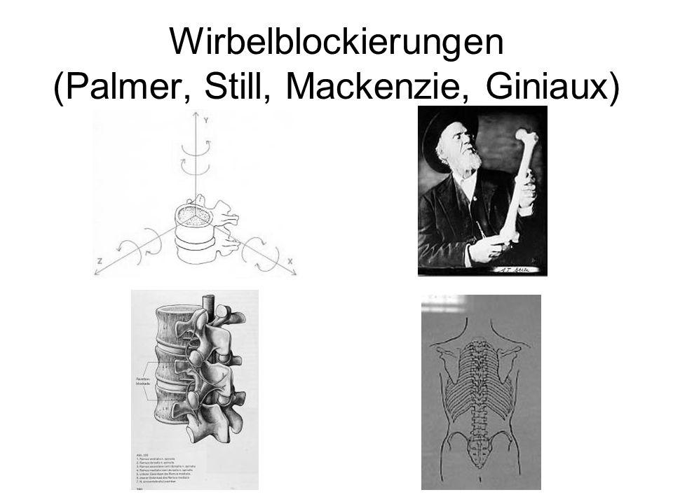 Wirbelblockierungen (Palmer, Still, Mackenzie, Giniaux)