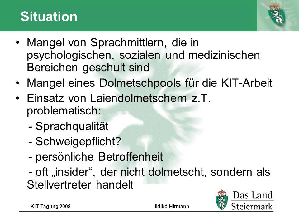 Autor KIT-Tagung 2008Ildikó Hirmann Besonders zu beachten 2.