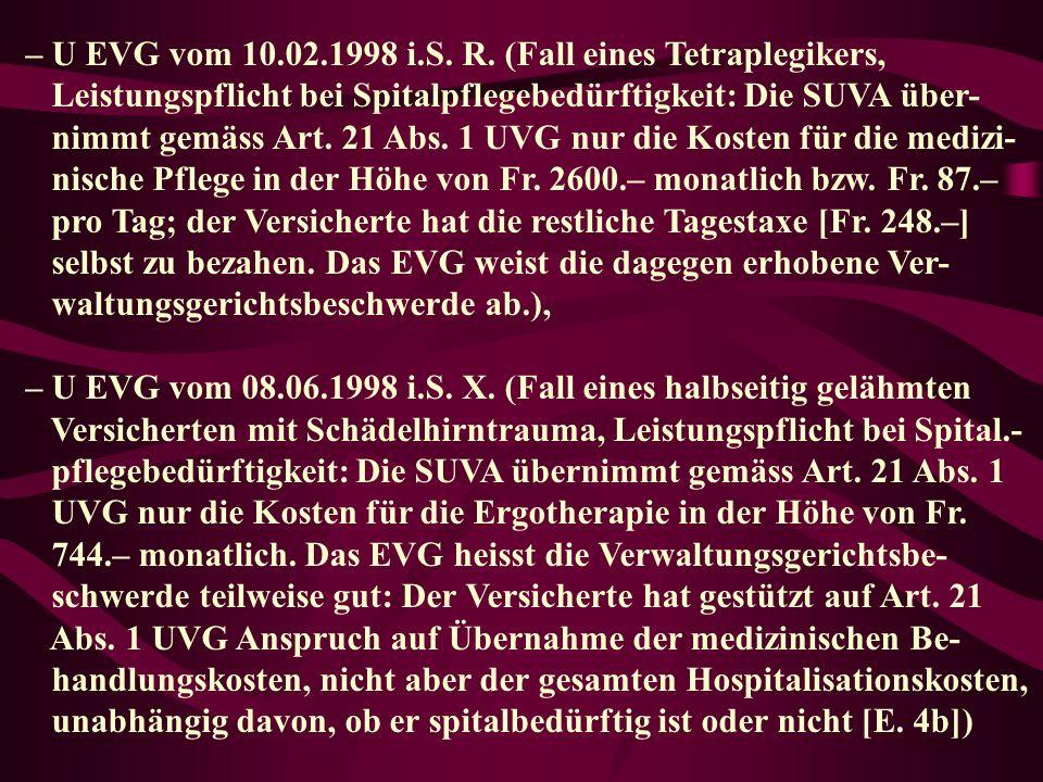 – U EVG vom 10.02.1998 i.S.R.