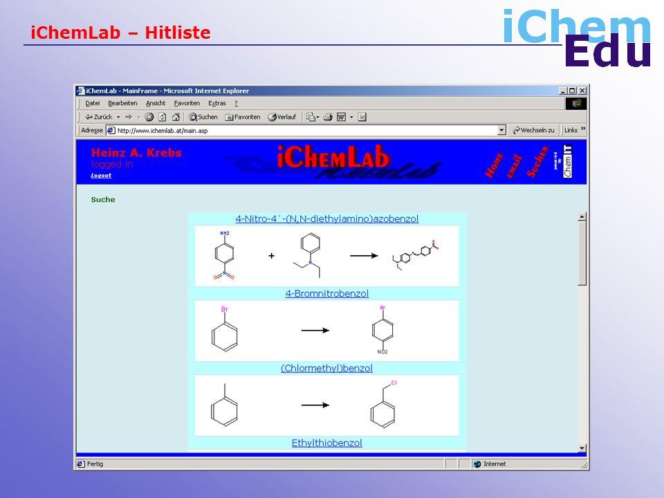 iChemLab – Hitliste