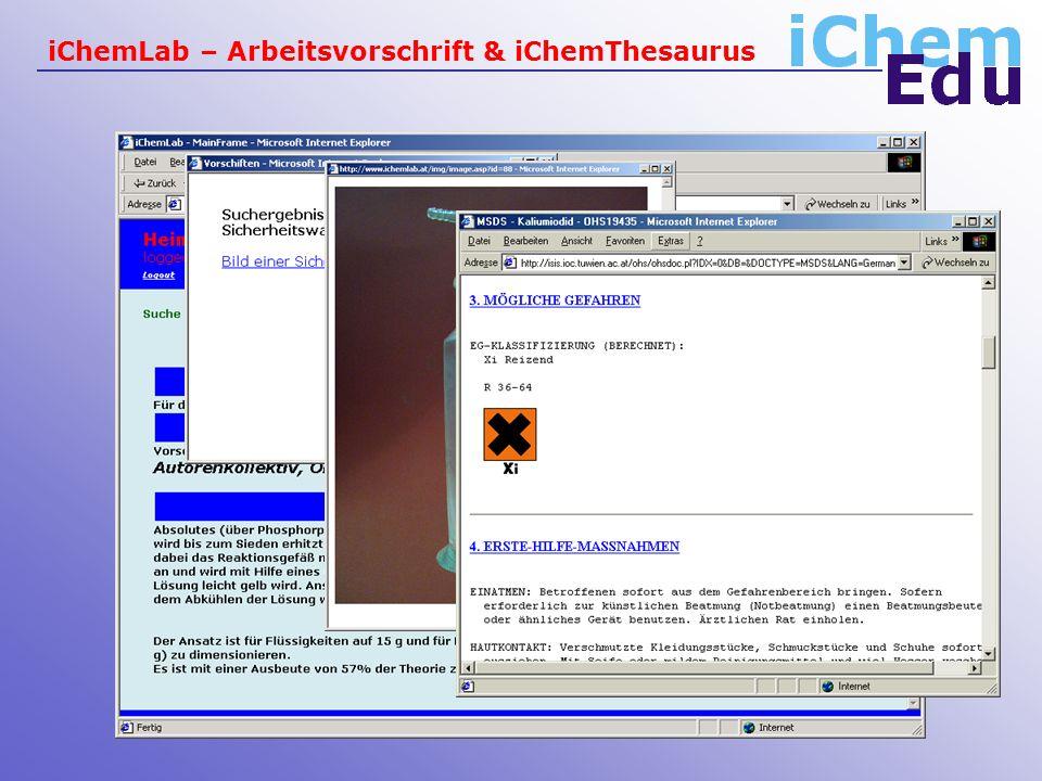 iChemLab – Arbeitsvorschrift & iChemThesaurus