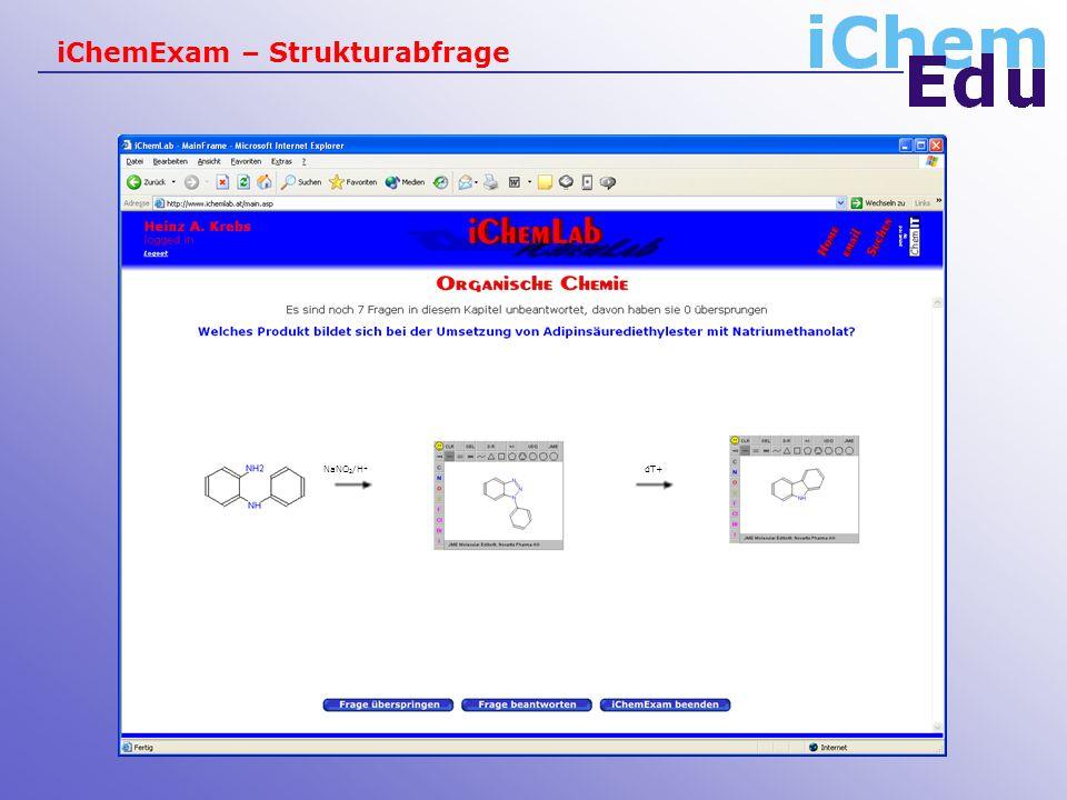 iChemExam – Strukturabfrage dT+NaNO 2 /H +