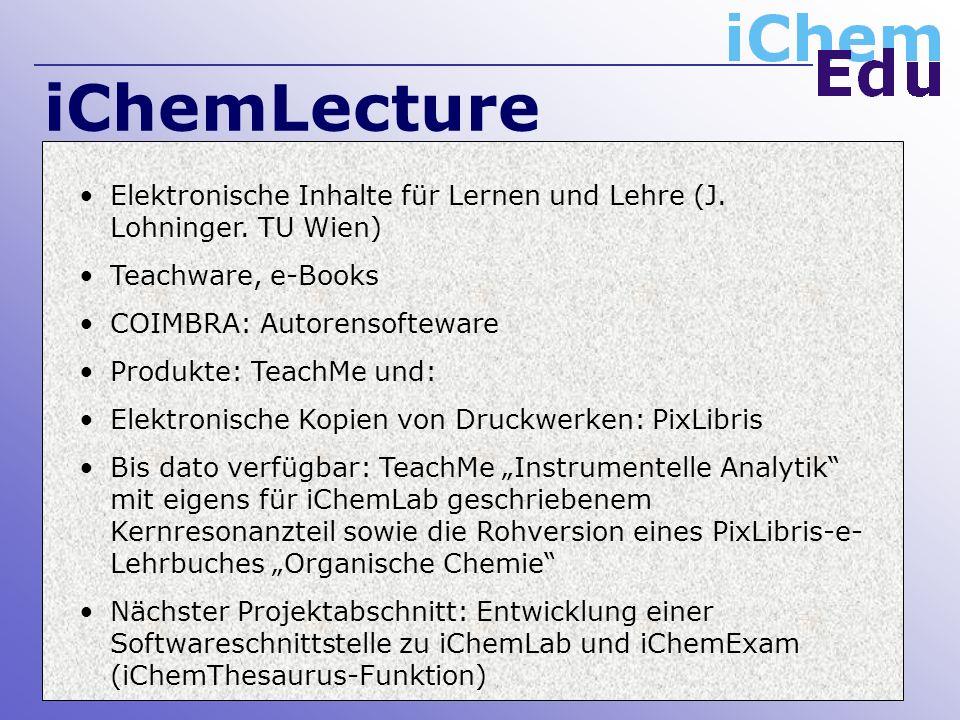 iChemLecture Elektronische Inhalte für Lernen und Lehre (J.
