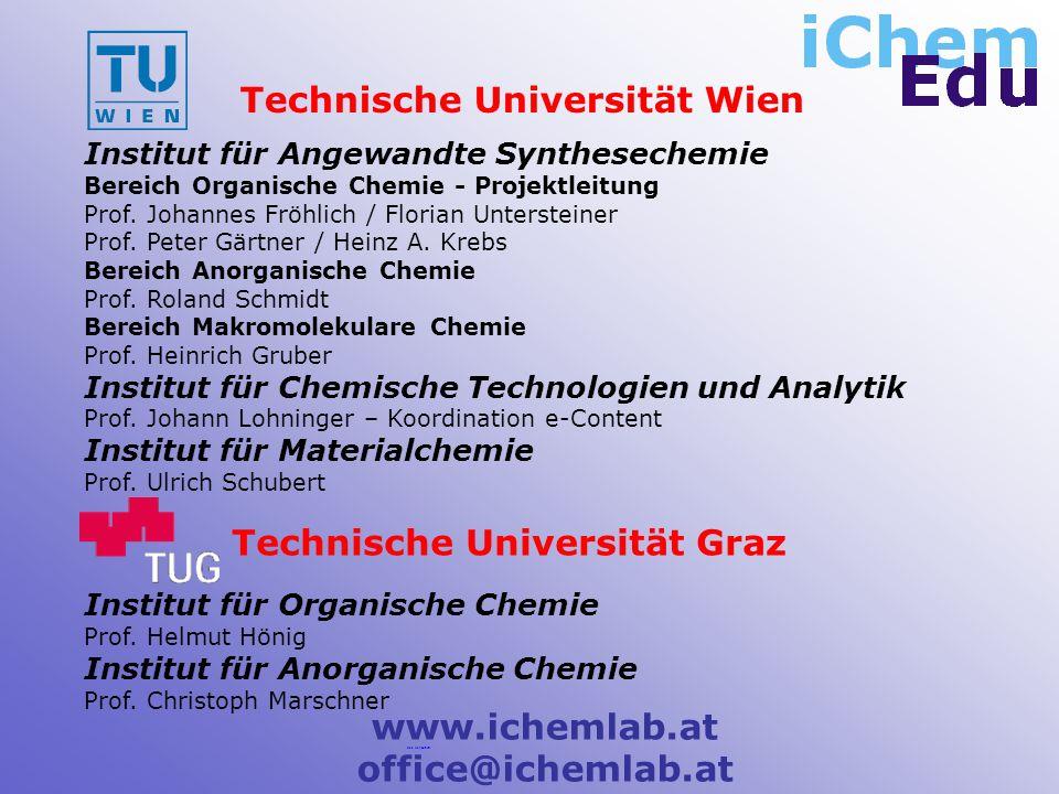 Institut für Angewandte Synthesechemie Bereich Organische Chemie - Projektleitung Prof.