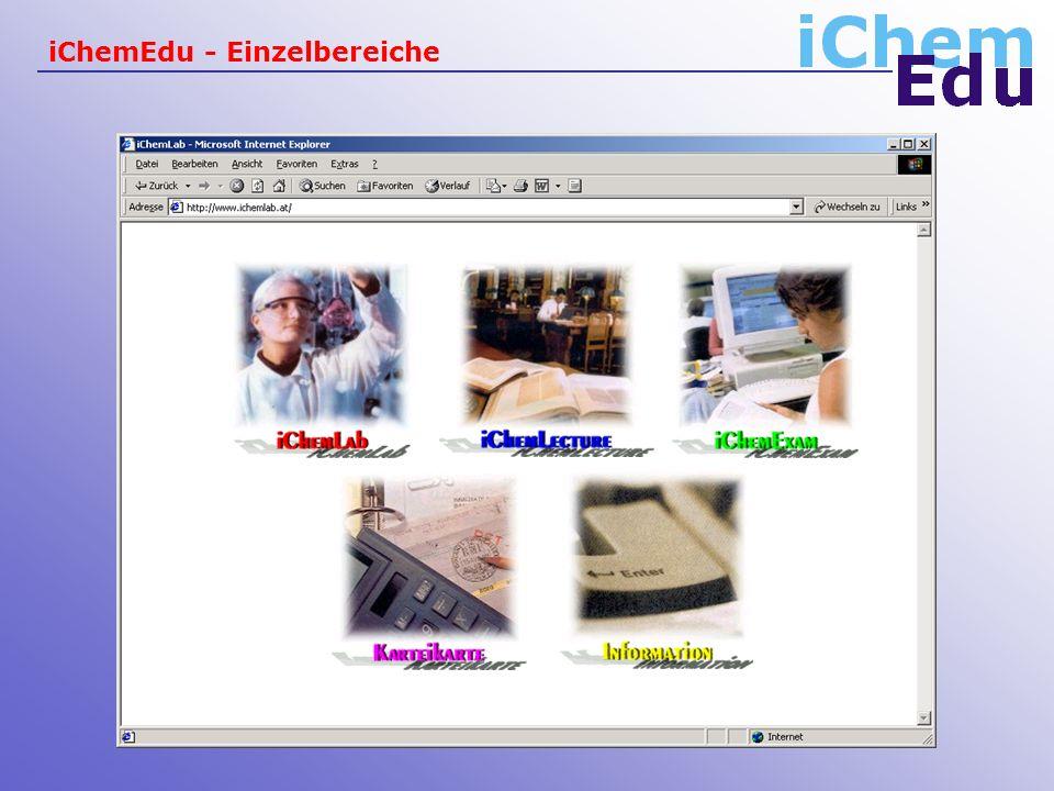 iChemEdu - Einzelbereiche