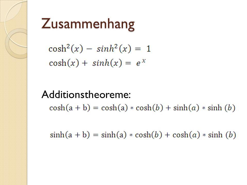 Zusammenhang Additionstheoreme: