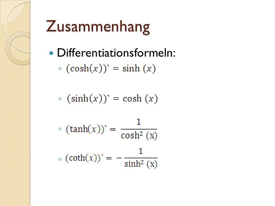 Zusammenhang Differentiationsformeln: