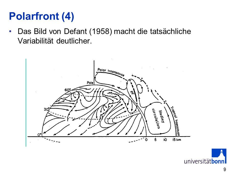 Polarfront (4) Das Bild von Defant (1958) macht die tatsächliche Variabilität deutlicher. 9