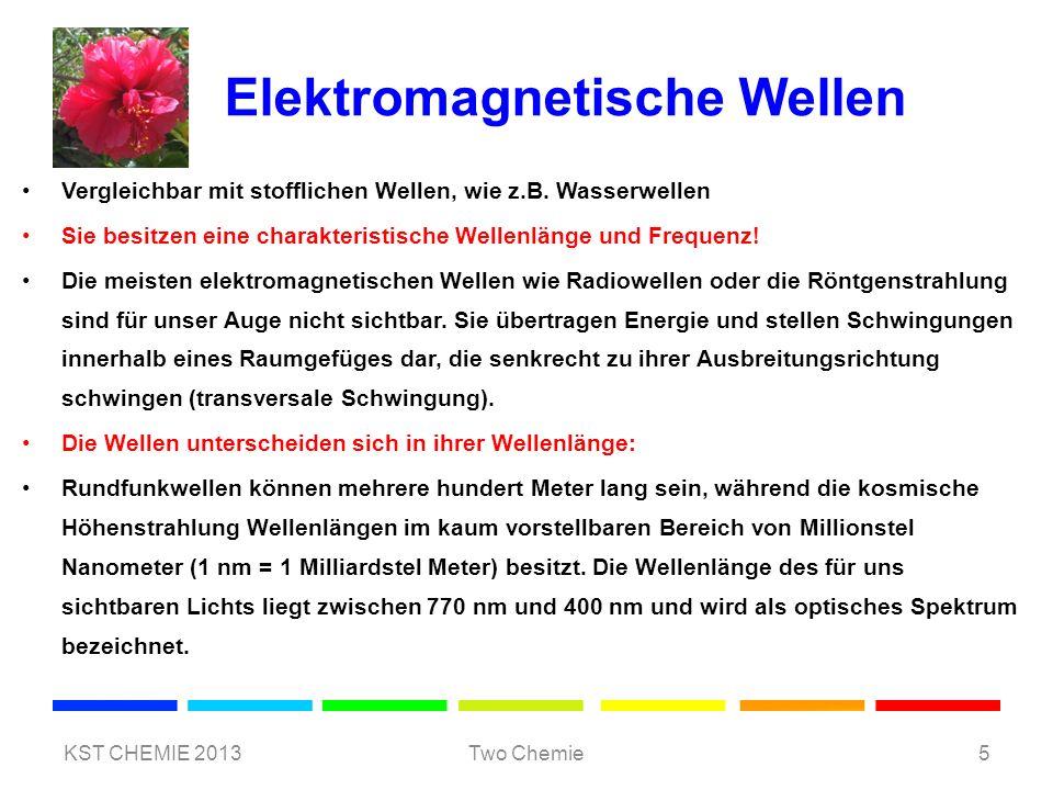Elektromagnetische Wellen Vergleichbar mit stofflichen Wellen, wie z.B. Wasserwellen Sie besitzen eine charakteristische Wellenlänge und Frequenz! Die