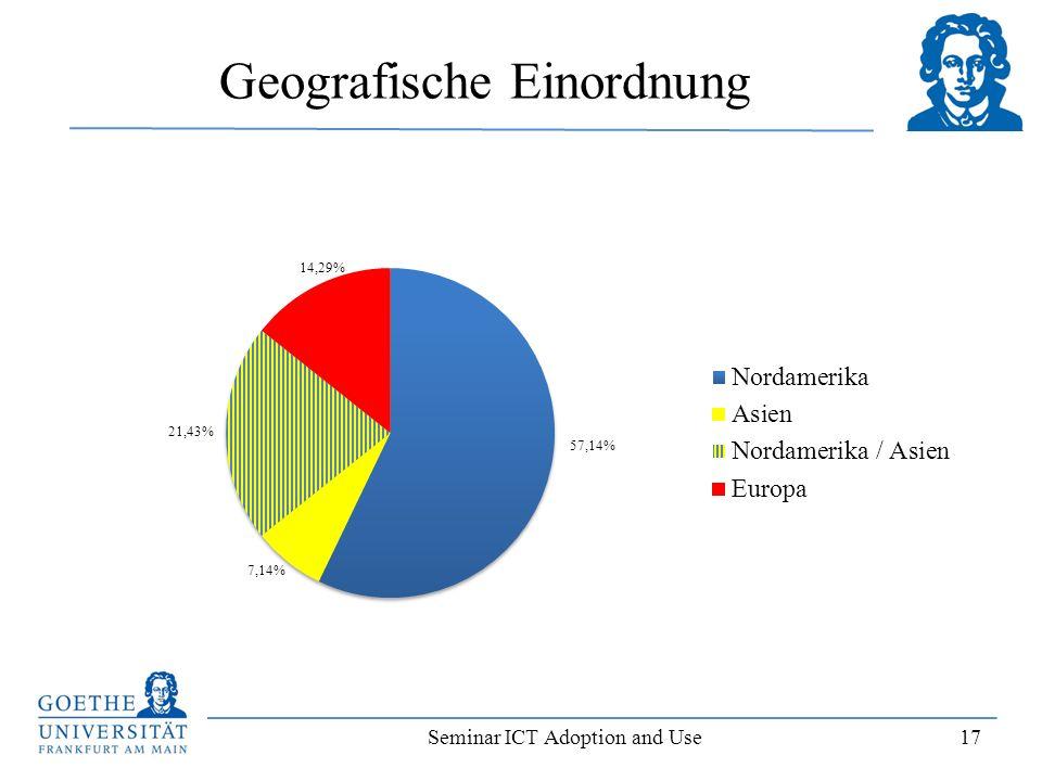 Seminar ICT Adoption and Use 17 Geografische Einordnung