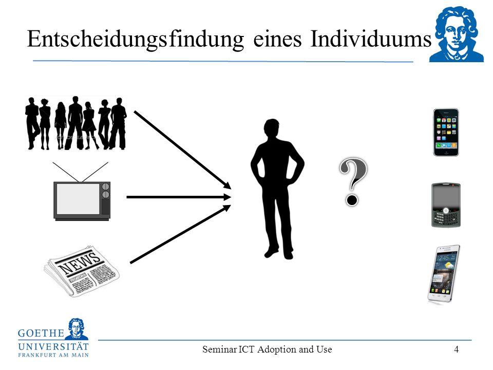 Seminar ICT Adoption and Use 4 Entscheidungsfindung eines Individuums