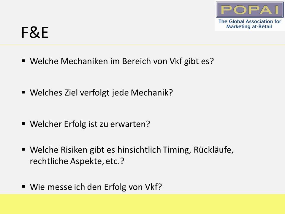 F&E Welches Ziel verfolgt jede Mechanik? Welche Mechaniken im Bereich von Vkf gibt es? Welcher Erfolg ist zu erwarten? Welche Risiken gibt es hinsicht