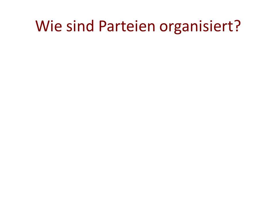 Wie sind Parteien organisiert?