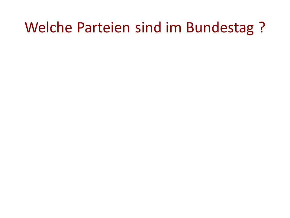 Welche Parteien sind im Bundestag ?