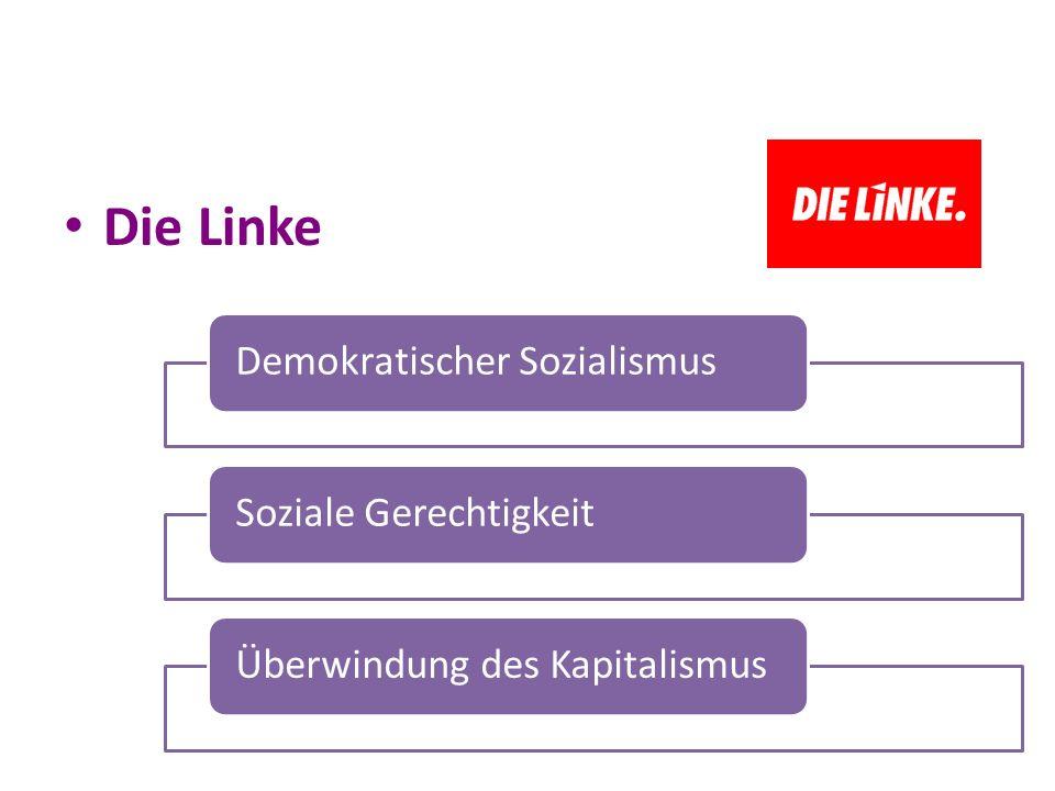 Die Linke Demokratischer SozialismusSoziale GerechtigkeitÜberwindung des Kapitalismus