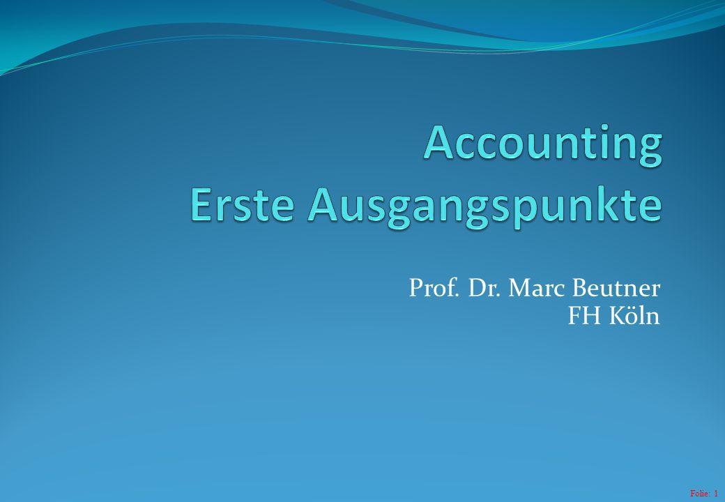 Folie: 1 Prof. Dr. Marc Beutner FH Köln