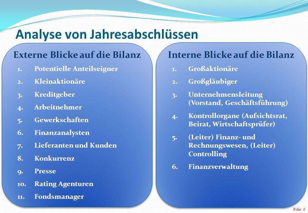 Folie: 17 Bereich Jahresabschlusspolitik Lüdenbach, N./ Hoffmann, W.-D.: IFRS Kommentar, 7.