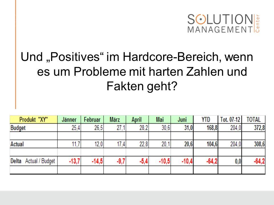 Und Positives im Hardcore-Bereich, wenn es um Probleme mit harten Zahlen und Fakten geht?