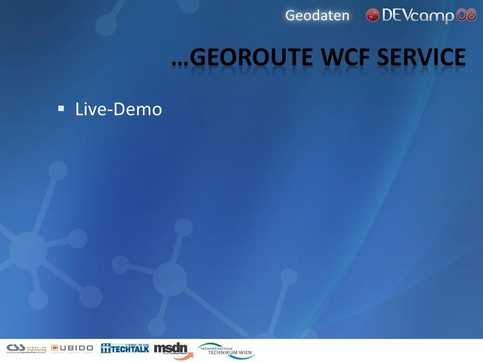 Live-Demo Geodaten