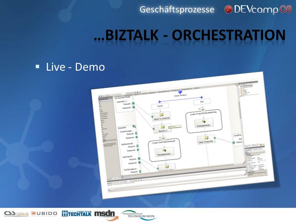 Live - Demo Geschäftsprozesse