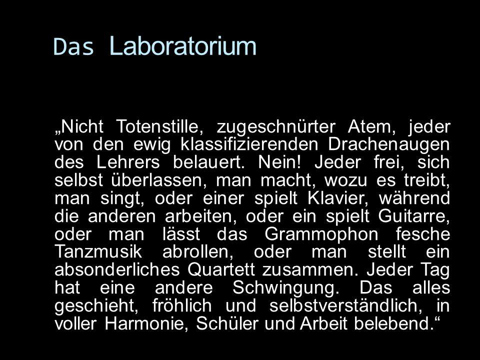 Das Laboratorium Nicht Totenstille, zugeschnürter Atem, jeder von den ewig klassifizierenden Drachenaugen des Lehrers belauert.