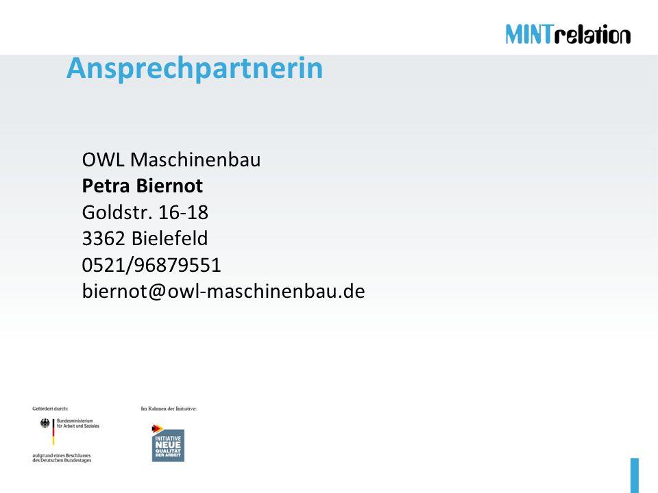 Ansprechpartnerin OWL Maschinenbau Petra Biernot Goldstr.