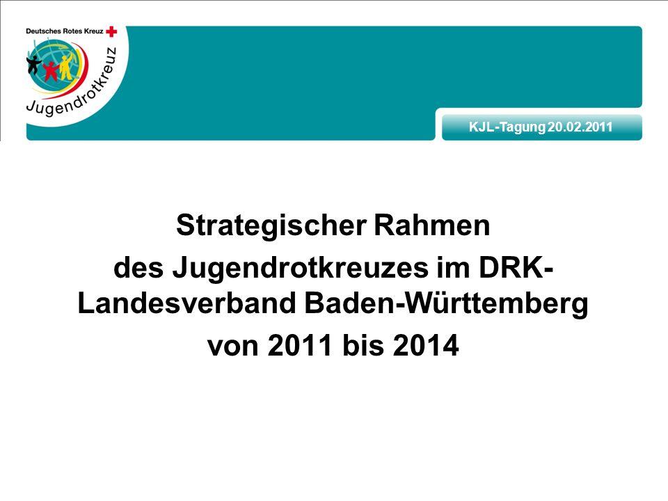 KJL-Tagung 20.02.2011 Strategischer Rahmen des Jugendrotkreuzes im DRK- Landesverband Baden-Württemberg von 2011 bis 2014
